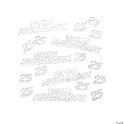 25th Silver Anniversary Confetti