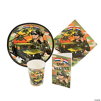 Camouflage/Army Tableware And Invites