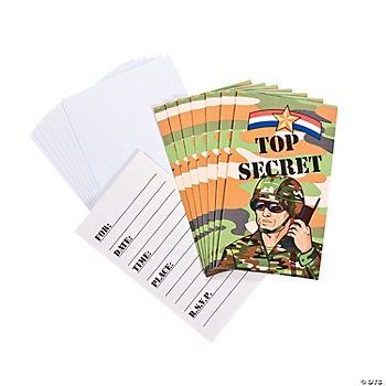 Camouflage Army Invitations