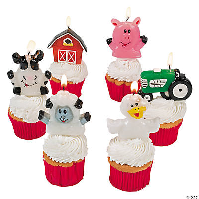 Farm Party Cake Topper Candles