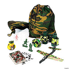 Cotton Camo/Army Filled Treat Bags