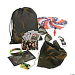 Camouflage Army Filled Tote Bags - 8 bags