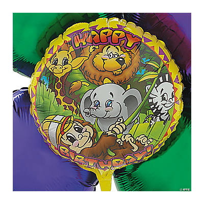 Swingin Safari Mylar Balloon