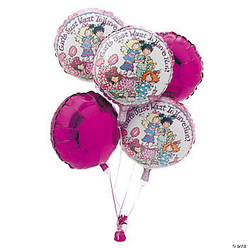8 Piece Slumber Party Birthday Balloon Set