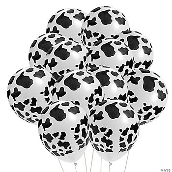 Cow Print Latex Balloons