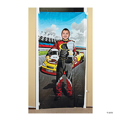 Race Car Driver Photo Door Banner