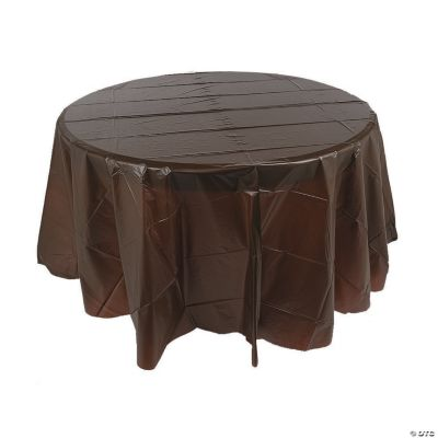 This Review Is FromChocolate Brown Round Plastic Tablecloth.