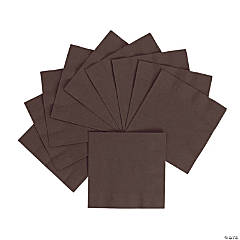 Chocolate Brown Beverage Napkins