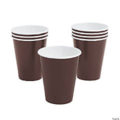 Chocolate Brown Party Cups