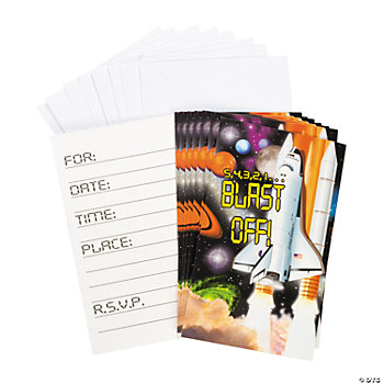 Outer Space Invitations