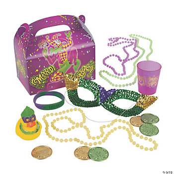 Mardi Gras Filled Treat Box