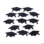 Black Graduation Hat Confetti