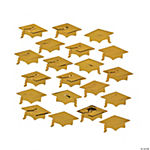 Gold Graduation Hat Confetti