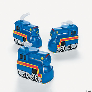 Train Engine-Shaped Cups With Straw
