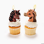 Mare & Foal-Shaped Cake Topper Candles