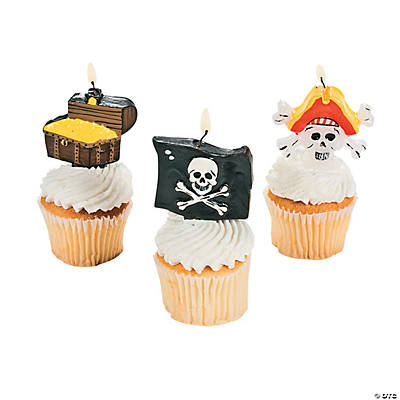 Pirate-Shaped Cake Topper Candles