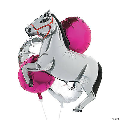 White Horse Birthday Balloon Set