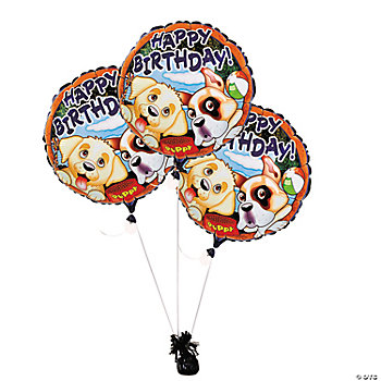 Birthday Puppy Mylar Balloons