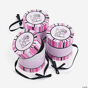 Pink Poodle Treat Hat Boxes