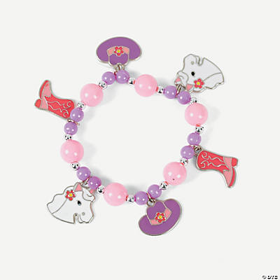 Pink Cowgirl Charm Bracelet Craft Kit