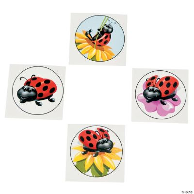 Ladybug Tattoos. Toss these lovely ladybug tattoos in goody bags or hand