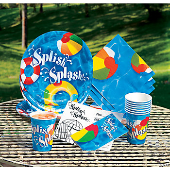 Swimming Pool Party Tableware & Invitations