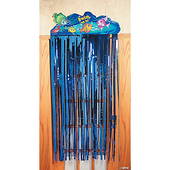Tropical Fish Door Curtain With Fringe