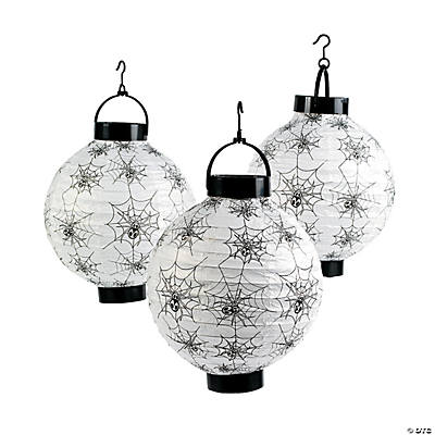 Spider & Cobweb Light-Up Lanterns