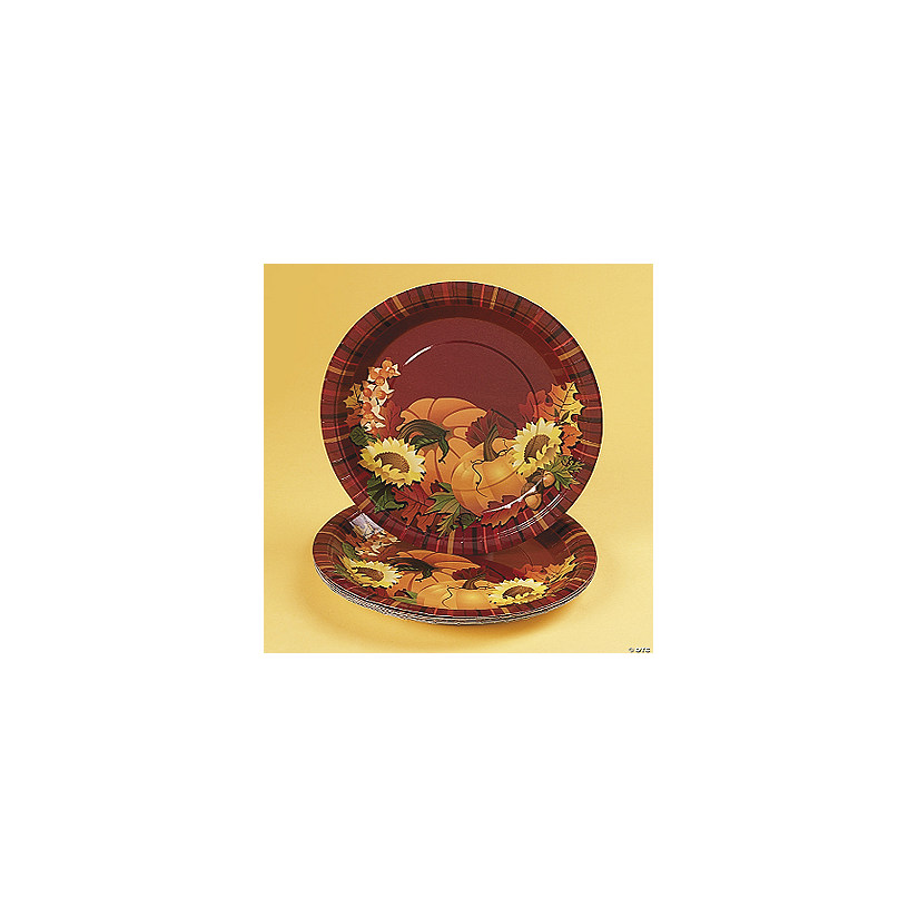 Fall Leaves Dinner Plates  sc 1 st  Oriental Trading : fall dinner plates - Pezcame.Com