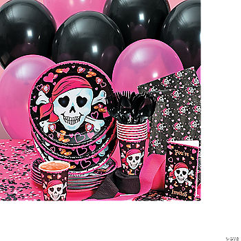 Pink Pirate Girl Basic Party Pack
