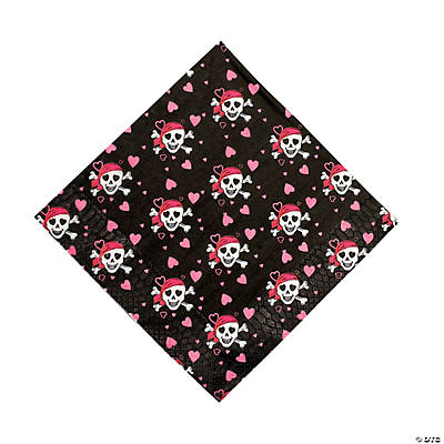 Pink Pirate Girl Luncheon Napkins