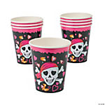 Pink Pirate Girl Cups