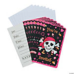 Pink Pirate Girl Invitations