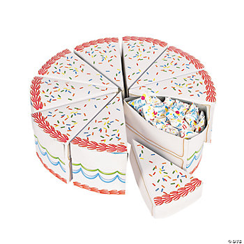 Birthday Cake Slices Treat Boxes