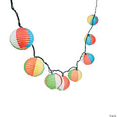 Beach Ball Paper Lantern Light Set