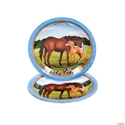 Mare & Foal Dessert Plates