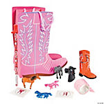 Pink Boot-Shaped Filled Treat Bag