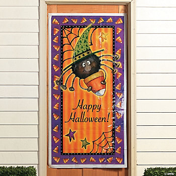 Candy Corn Spider Door Banner