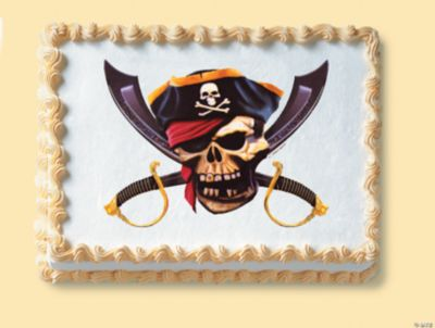 Edible Cake Decorations Skull : Pirate Skull Edible Image  Cake Decoration - Oriental ...