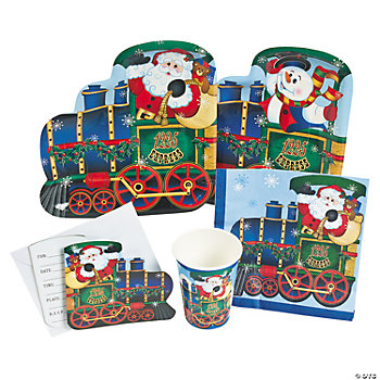 Holiday Train Tableware & Invitations