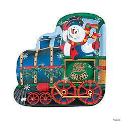 Holiday Train-Shaped Dinner Plates