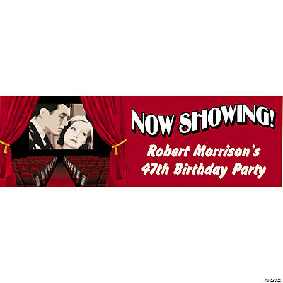 Personalized Movie Night Banner - Medium