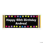 Personalized Primary Milestone Birthday Banner - Medium