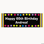 Personalized Primary Milestone Birthday Banner - Large