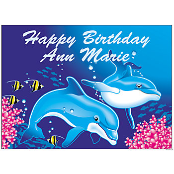 Personalized Dolphin Yard Sign