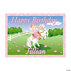 Personalized Pink Cowgirl Yard Sign