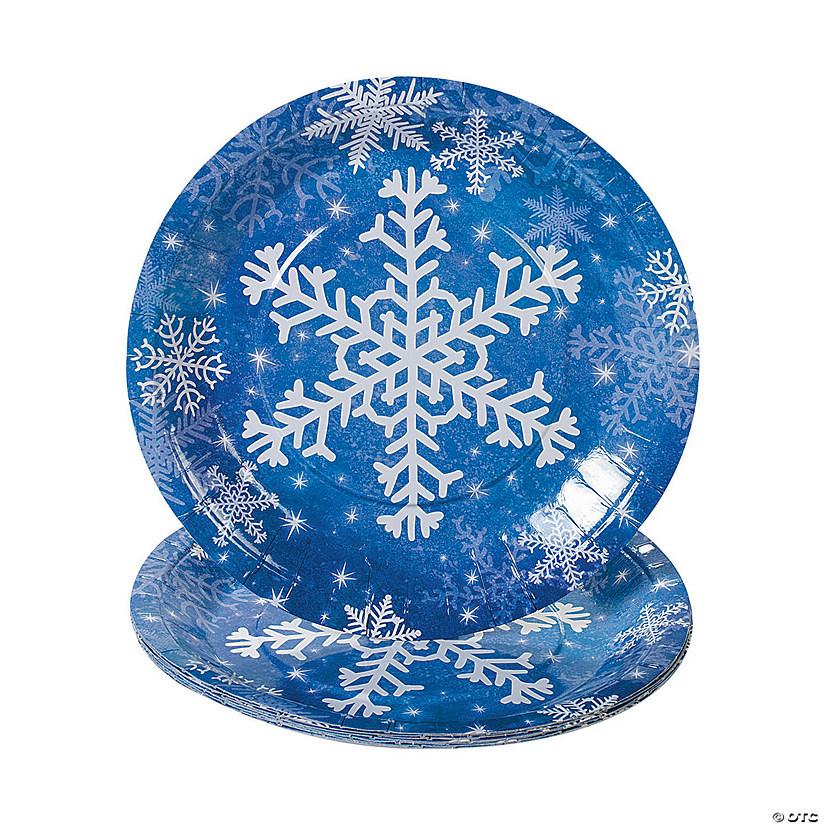 sc 1 st  Oriental Trading & Snowflake Paper Dinner Plates