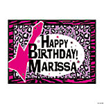 Personalized Rock Star Diva Yard Sign