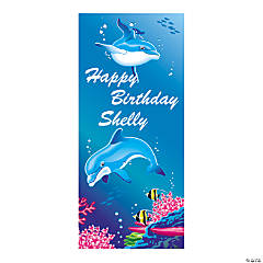 Personalized Dolphin Party Door Cover