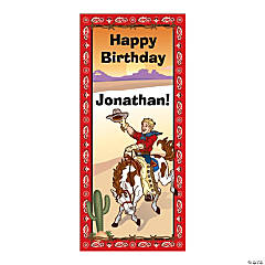 Personalized Cowboy Party Door Cover